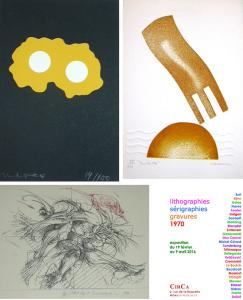 lithographies, sérigraphies, gravures 1970